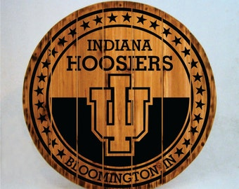 Indiana Hoosiers Rustic Sign - Buy One - Get One - FREE (Last Day!)