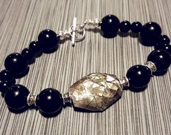 Black Beauty beaded bracelet