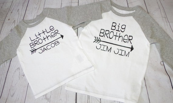 Big brother little brother raglan tee, baseball tees, lil bro big bro baseball shirts, big brother little brother shirts, sibling shirts