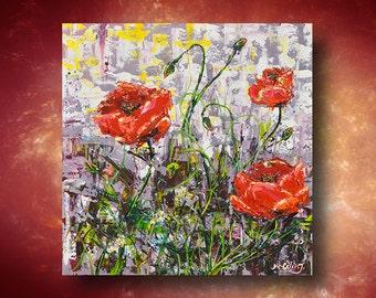 "Artwork paint / Acrilic painting / Original paint / Modern painting / Handmade work/ 20"" X 20""  inch / by Janna"