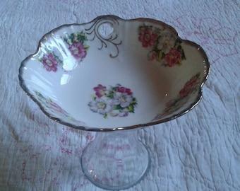 Vintage pedestal bowl