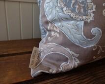Tan Paisley Pillow Cover