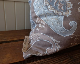 Tan Paisley Pillow Cover