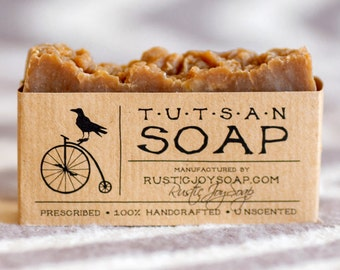 Tutsan Soap, oil skin soap, all Natural soap, unscented soap, natural skin care, acne soap, vegan gift, gift for boyfriend, spa soap