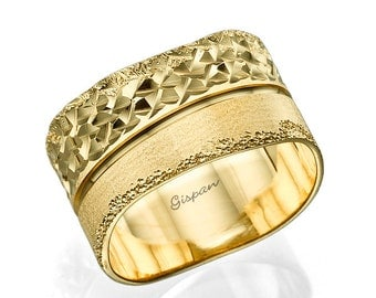 unique wedding ring wedding band gold wedding ring woman wedding ring glitter - Gold Wedding Rings For Her