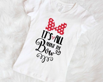 All about the bow girls disney inspired tee minnie mouse shirt disney shirt minnie mouse top little girls disney shirt free shipping