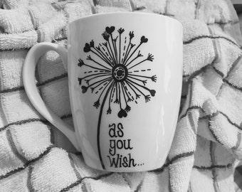 Coffee Mug with Dandelion , Mother's Day Gift, Gift for Mom, Gift for Her, Coffee Lover Gift, Gift for Friend, Coffee Mug for Mom