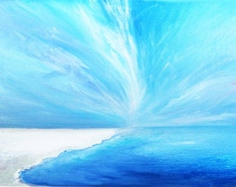 Seascape Canvas Art Oil Painting On Canvas 50x70cm Landscape Painting ItalianMarinePainter Sea 25 One Piece  OOAK