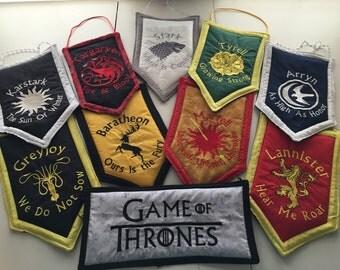 Game of Thrones, Game of Thrones Flag, Game of Thrones House Flag