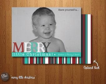 Printable Christmas Card - Photo Christmas Card – Merry Little Christmas