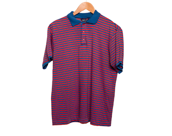Vintage Blue and Red DeeCee Polo Medium FREE SHIPPING!