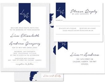Destination Wedding Invitation Set (priced per 25)