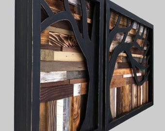 Reclaimed Wood Art *FREE SHIPPING* Large Wall Art, Repurposed Wood Art,  Rustic