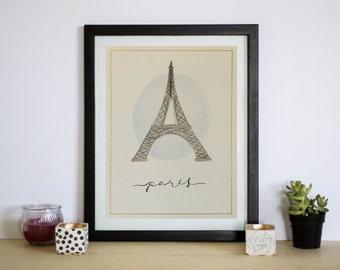 Paris watercolor | Eiffel tower watercolor | pastel colors | eiffel tower poster | Paris poster | french poster | Paris art | French art