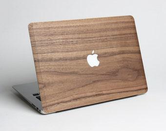 Macbook Pro 13, 15 Wood Skin - Macbook Air 11, 13 Wood Skin - Walnut Real Wood Skin Sticker