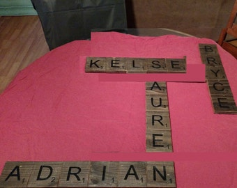 Scrabble Letters for wall