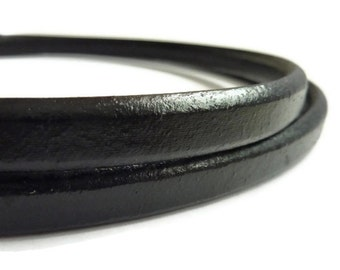 1 yard Regaliz Leather Black licorice Leather Cord licorice leather leather cord thick cord 10 x 5mm S 40 023