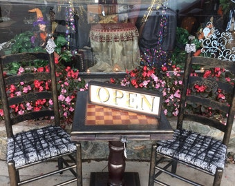 Designer Chess Table and Chairs