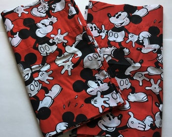 Vintage Mickey Mouse Valance Curtains by Disney, Mickey Mouse Window Valance, Disney Mickey Mouse Valance Curtain, Mickey Mouse