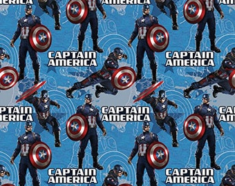 Marvel Comics- Captain America / D/R Star /Cotton Fabric/ 6 continous yards