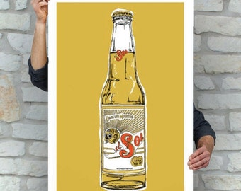 Sol Beer Cerveza | Sugar Skull Print | Day of the Dead | Street Art | Pop Art