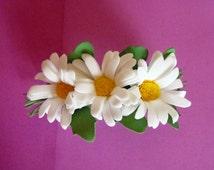 Camomile made of foamiran (handmade) White daisy of handwork Brooch camomile Hairpin white daisy Handmade ornament under the order Gift foam
