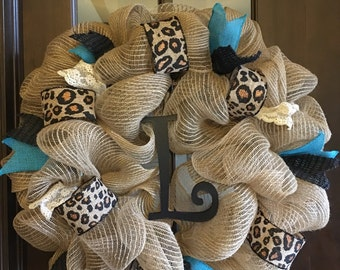 Leopard Print Wreath