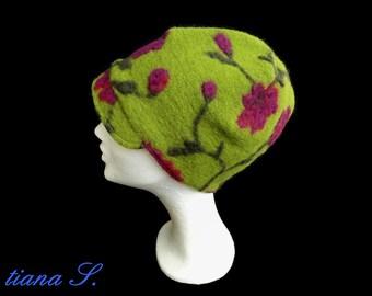 CAP, Loden green fuchsia