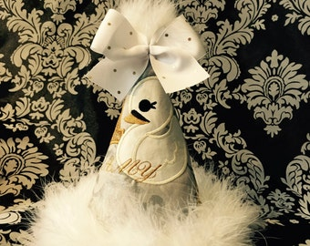 Beautiful Swan Party Hat-Made to Match Any Party Theme