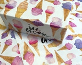 Wrapping Paper Ice Cream Watercolour Illustrations