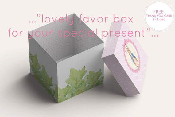 TppCardS 0 Peter Rabbit Baby Shower Favor Boxes 1st Birthday Party Box Gift