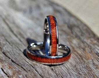 Devocean Thin Koa Wood Ring