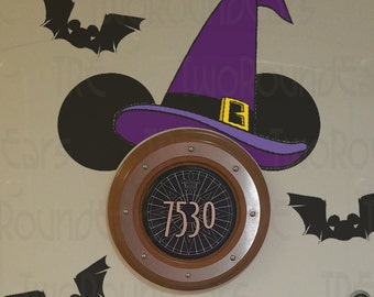 DCL Stateroom Door Porthole Ears - Witches Hat