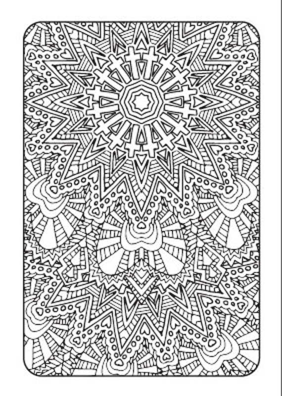 Art Therapy Printable Adult Coloring Book Downloadable PDF