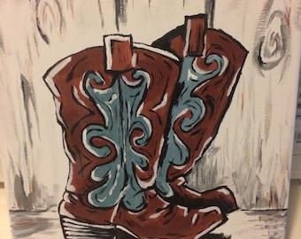 Cowboy boots paint