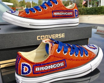 Denver Broncos  Brilliant crystallized converse –STUNNING! Any team Any sport