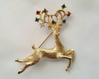 Reindeer in flight pin