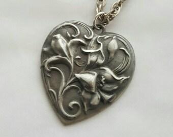 Vintage pewter pendant