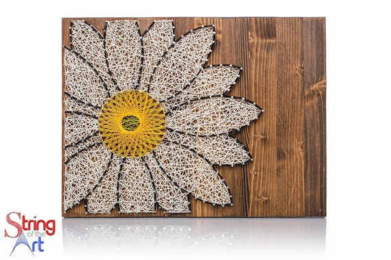 daisy string art kit crafts for adults diy kit crafts kit. Black Bedroom Furniture Sets. Home Design Ideas