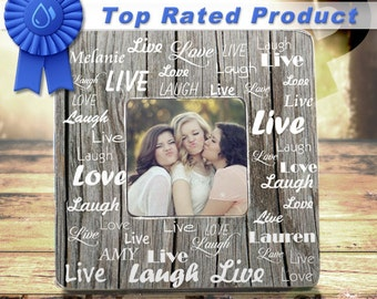 Live Love Laugh Picture Frame Custom Name Picture Frame TPFS