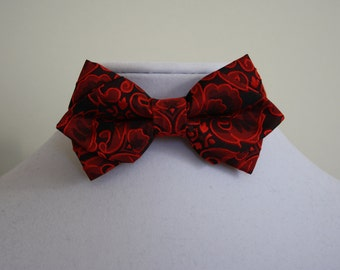 red and black bow tie for men