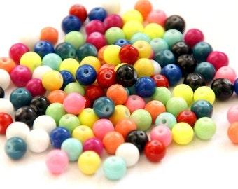 250 St. 8 mm glass beads / mix