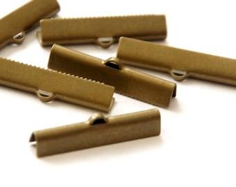 10 pcs. Tape Clamps 30 x 6 mm/Bronze