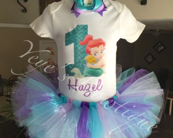 Baby Ariel First Birthday Outfit | Baby Ariel 1st Birthday tutu | Baby Mermaid Birthday Outfit | Ariel First Birthday | Ariel 1st Birthday