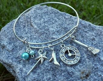 Disney Cinderella Adjustable Charm Bracelet / Princess