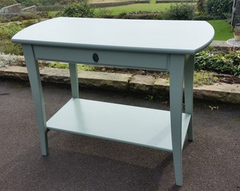 Console/ desk painted in Farrow and Balls's Castle Grey
