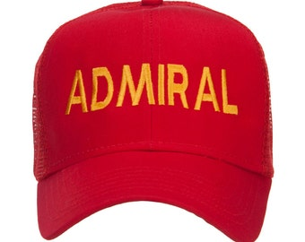 Admiral Military Embroidered Mesh Cap