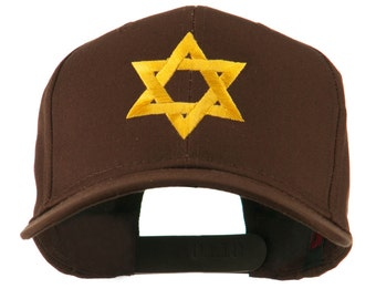 Jewish Star of David Embroidered Cap