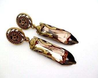 Brass Steampunk Earrings_STE6542135770_Steampunk Accessories_ Gift Ideas_earrings high brightness
