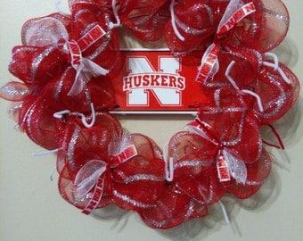 Nebraska Huskers Wreath